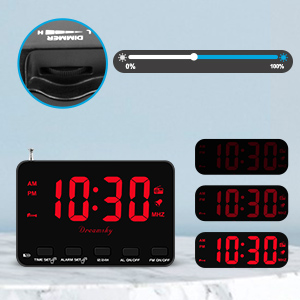 kids alarm clock with dimmer