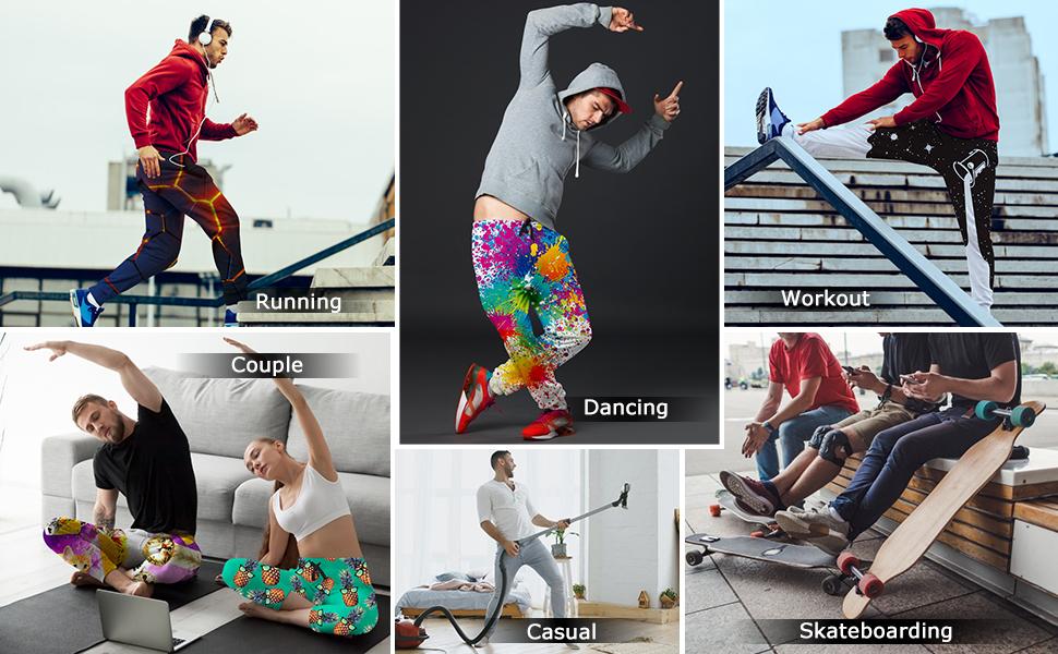 Perfect for Running Dancing Workout Skateboarding etc