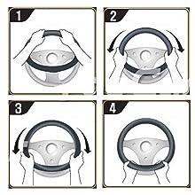 universal wheel cover accesorios para autos interior steering wheel cover design antislip material