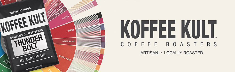Koffee Kult Locally Roasted Artisan Coffee Whole Bean  Ground Coffee 100% Arabica Beans