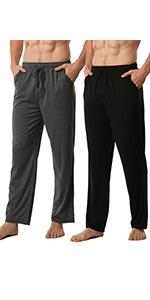 2 Pack Mens Modal Pyjamas Bottoms