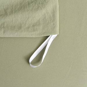 green duvet cover cotton with ties