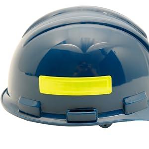 BLUE /& SILVER CHECK HI VIZ REFLECTIVE FLUORESCENT RIDING HELMET HAT BAND NEW