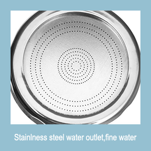 Stainless  water output