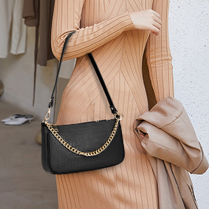 Small Shoulder Bags for Women Mini Handbags with Croc Pattern