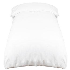 ZOLLNER Funda nórdica de algodón 100%, Blanca, Cama 80-90 cm, en Otra Medida: Amazon.es: Hogar