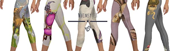 Whimsy Fit leggings workout fitness high waistband slimming soft comfortable yoga running activewear