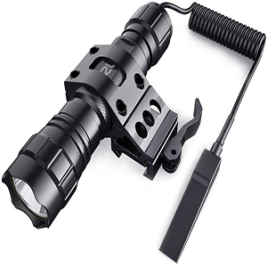 CISNO T6 LED Tactical Flashlight Torch Shotgun Remote Pressure Switch Mount US