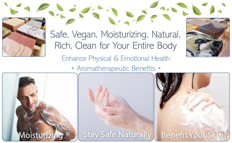 Soap, Handmade, Cold Process, Bar Soap, Body Soap, Moisturizing Soap, Essential Oil, Vegan, Natural