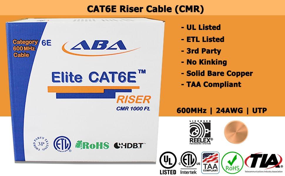 cat6e riser cable utp cmr 1000ft