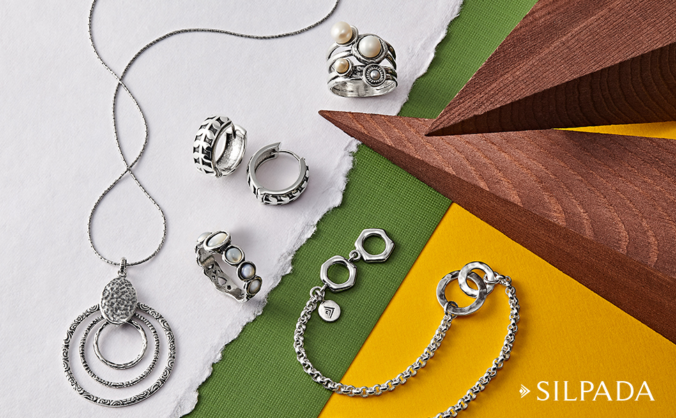 Silpada 'Broadleaf' Huggie Hoop Earrings in Sterling Silver