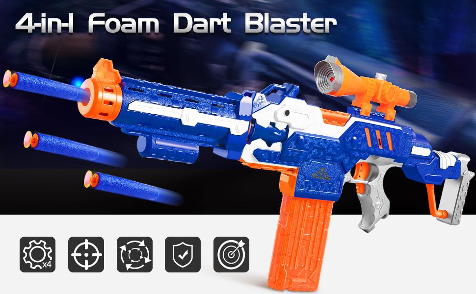 Yangers Pistola de Juguete de Balas de Blasters de Espuma Pistola de Blaster de pl/ástico con Balas de Dardos de Espuma de 40 Piezas y Diana de Tiro para ni/ños Adultos