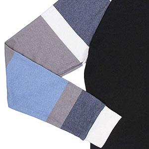 Printed Color Block Long Sleeve