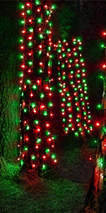 LED net lights, trunk lights for wrapping trees with lights