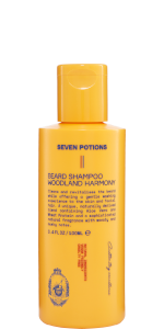 Seven Potions beard shampoo wash