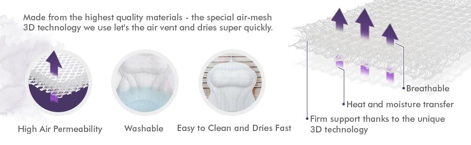 zentyme bath pillow breathable hot tub accessories