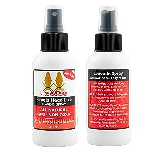 repeal head lice leave in spray prevent
