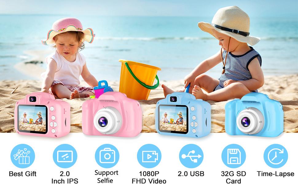 Upgrade Kids Selfie Camera - pink