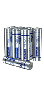 850mAh 16-Pack 1.2V NiMH 1200 Cycle for Solar Light Flashlight Toys Voice Recorder Mp3 Player Mouse Clocks Remote Controller melasta AAA Rechargeable Batteries