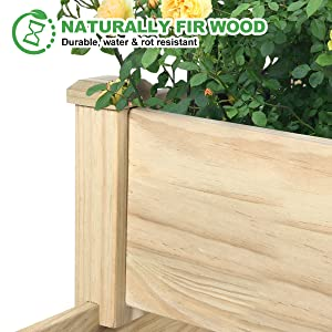 elevated wood planter boxes