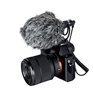 Movo DOM2 3.5mm TRS Omni-Directional Calibrated Condenser Microphone for DJI Osmo Handheld 4K Camera and Other 3.5mm TRS Devices