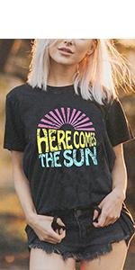 Sunshine Graphic Shirt for Women Sunshine Graphic Tees for Women Graphic Tees for Women