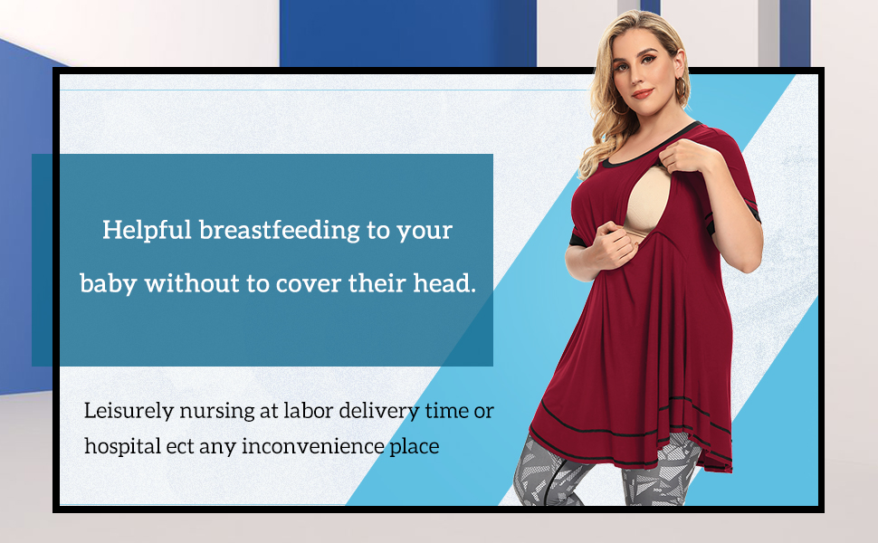 Plus Size nursing tops for women