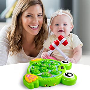 Whack A Frog Game Interactive Game, Hammering Pounding Toy Activity Game