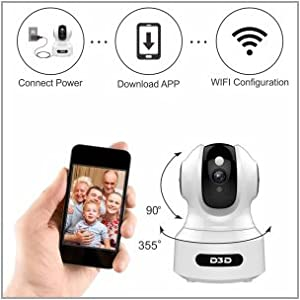 D3D 826 Home Security IP Camera Easy Installation