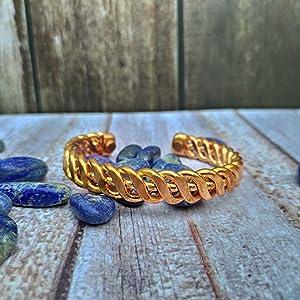 Heavy weight Pure Copper Kada or Bracelet for men