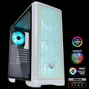 AURA SYNC, MISTIC LIGHT SYNC, RGB Fusion 2.0 and POLYCHROME RGB