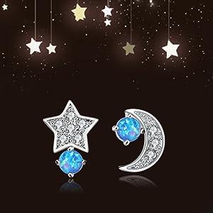 girls star earrings