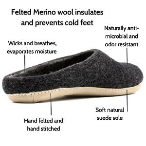 mens slippers, wool slippers, slippers for men, best mens slippers
