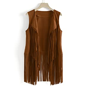One fringe vest suitable for all season