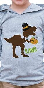 dinosaur turkey boys hoodie shirt happy thanksgiving boy baby toddler infant happy turkey day