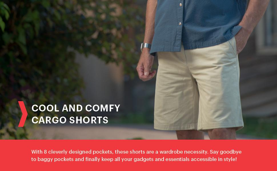 lightweight comfortable cargo shorts