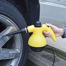 Vaporizador de limpieza para limpiar el coche, las llantas, la tapiceria