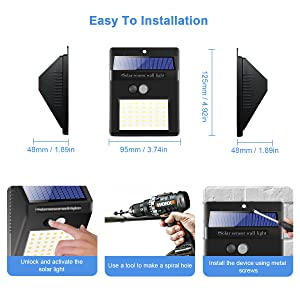 easy install out solar light