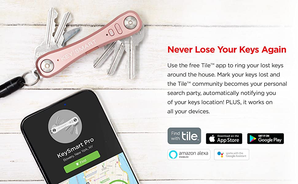 KeySmart Pro helps you find your phone too