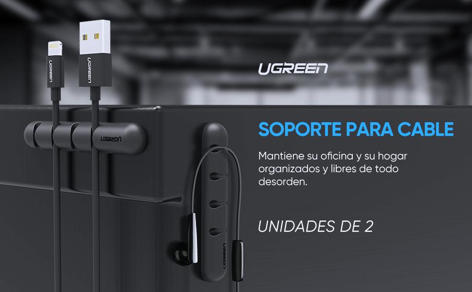 UGREEN 2 Unidades Clips para Cables, Organizador de Cable de ...