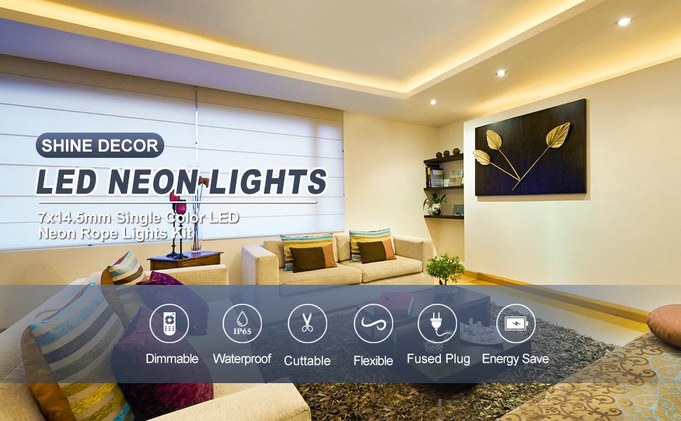 Shine Decor LED Mini Neon Rope Light Strip