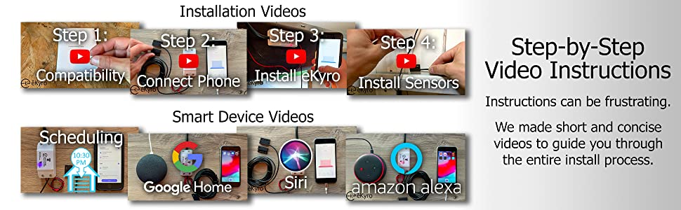 easy installation install simple quick amazon alexa google home siri scheduled timer automatic close