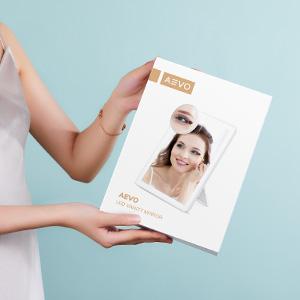Kosmetikspiegel mit LED LichtSchminkspiegel Beleuchtet mit Blendfreier Bleuchtung Schminken Rasieren