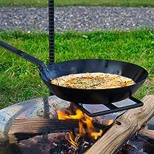 プライパン 焚き火調理