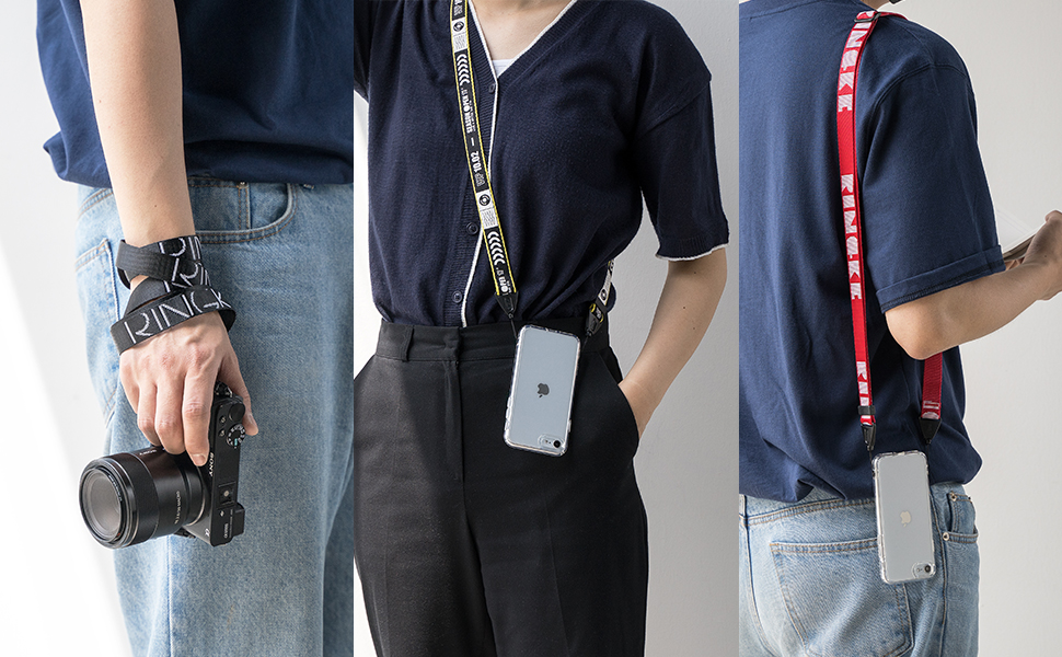 Ringke Lanyard Shoulder Strap Designed for Cell Phone Cases, Keys, Cameras & ID QuikCatch