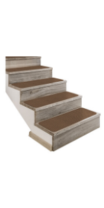 House Home and More Stair Treads Tape Down Adhesive Toffee Brown
