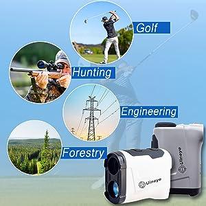 Laser rangefinder for hunting and golf