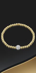Bracciale con perline placcato oro