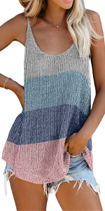 Womens Knit Scoop Neck Tank Tops