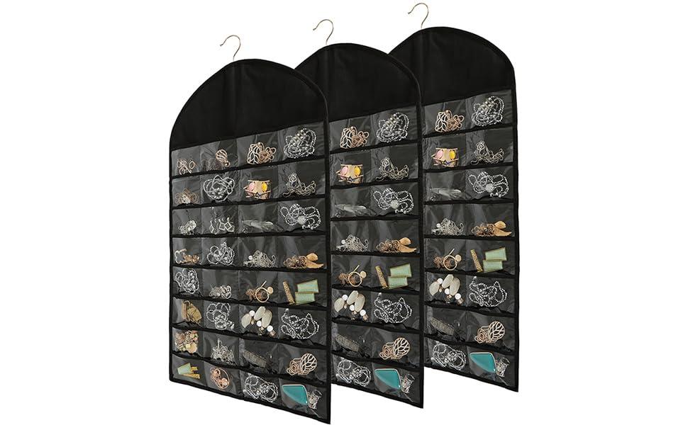 Foraineam 3 Pack Hanging Jewelry Organizer